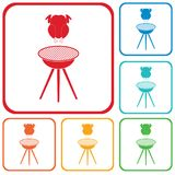 Grilled chicken icon Stock Image