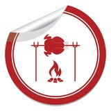 Grilled chicken icon Royalty Free Stock Images