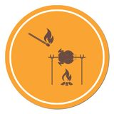 Grilled chicken icon. Vector illustration royalty free illustration