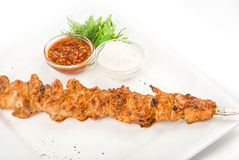 Grilled chicken kebab Royalty Free Stock Images