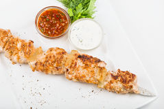 Grilled chicken kebab Royalty Free Stock Photo