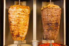 Grilled Chicken Lamb Shawerma Fast Food Meat Royalty Free Stock Images
