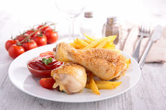 Grilled chicken leg Stock Photography