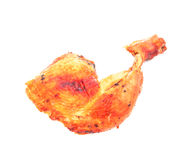 Grilled  chicken  leg  i solated on white background Stock Images