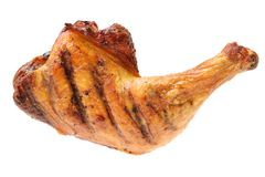 Grilled chicken leg Royalty Free Stock Photography