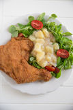 Grilled chicken leg with salad Royalty Free Stock Image