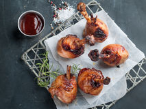 Grilled chicken leg Stock Images