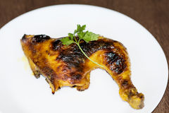 Grilled chicken leg Royalty Free Stock Images