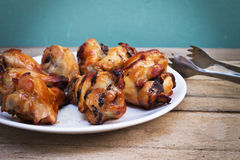 Grilled chicken leg Royalty Free Stock Photos
