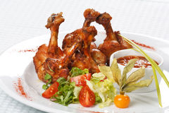 Grilled chicken legs Royalty Free Stock Photography