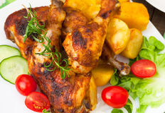Grilled chicken legs Royalty Free Stock Images