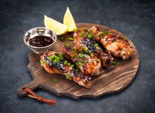 Grilled chicken legs with teriyaki sauce Royalty Free Stock Photo