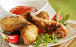 Grilled chicken legs Stock Images