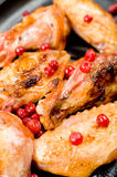 Grilled chicken, macro Stock Image