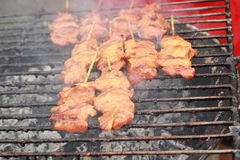 Grilled chicken in the market Royalty Free Stock Photos