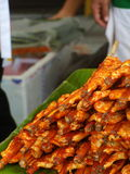 Grilled chicken  at  market in Bangkok. Thailand Royalty Free Stock Photography