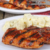 Grilled Chicken Meal stock images
