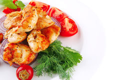 Grilled chicken meat Royalty Free Stock Image