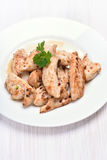 Grilled chicken meat sliced Royalty Free Stock Photography