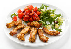Grilled chicken nuggets Royalty Free Stock Images