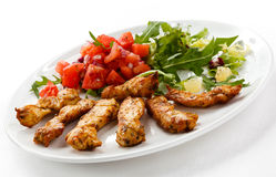 Grilled chicken nuggets Royalty Free Stock Photography