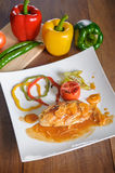 Grilled chicken with orange sauce Royalty Free Stock Image