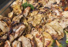 Grilled chicken at an oriental restaurant buffet Stock Image