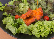 Free Grilled Chicken Paprika Pepper With Vegetable Salad None Oil Low Fat Diet Healthy Stock Image - 76416081