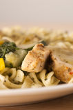 Grilled Chicken with Pasta Stock Photo