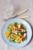 Grilled chicken and peach salad Royalty Free Stock Photo