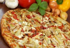 Grilled Chicken Pizza Stock Images