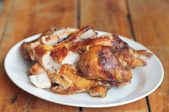 Grilled chicken on plate Royalty Free Stock Photo