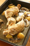 Grilled chicken with potato and mushroom Royalty Free Stock Images