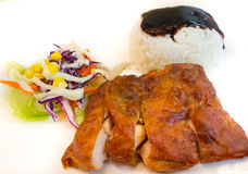 Grilled Chicken Rice Royalty Free Stock Images