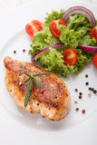 Grilled chicken salad Royalty Free Stock Image