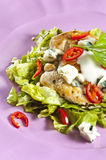 Grilled chicken salad. With blue cheese Stock Images