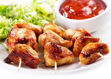 Grilled chicken with salad Stock Photo
