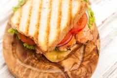 Grilled chicken sandwich Stock Image