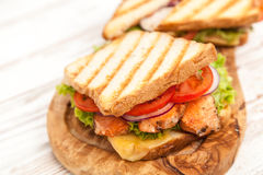 Grilled chicken sandwich Royalty Free Stock Image