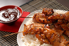 Grilled Chicken Satay Stock Image