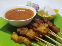 Grilled Chicken Satay Royalty Free Stock Images