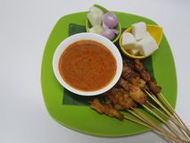 Grilled Chicken Satay Stock Images