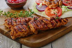 Grilled chicken shawarma Stock Photography