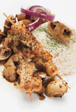 Grilled chicken skewer Stock Images