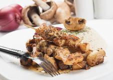 Grilled chicken skewer Stock Photography