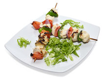 Grilled chicken skewers Stock Image