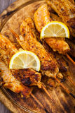 Grilled chicken skewers Royalty Free Stock Photography