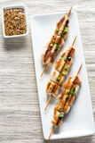 Grilled chicken skewers Royalty Free Stock Photo