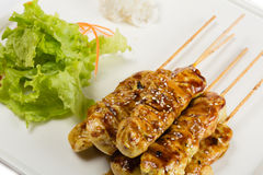 Grilled chicken skewers Royalty Free Stock Image