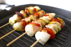 Grilled chicken skewers Royalty Free Stock Photos